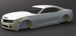 طراحی کامل بدنه خودروی کامارو با سالیدورک